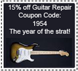 Music Central location for guitar repair
